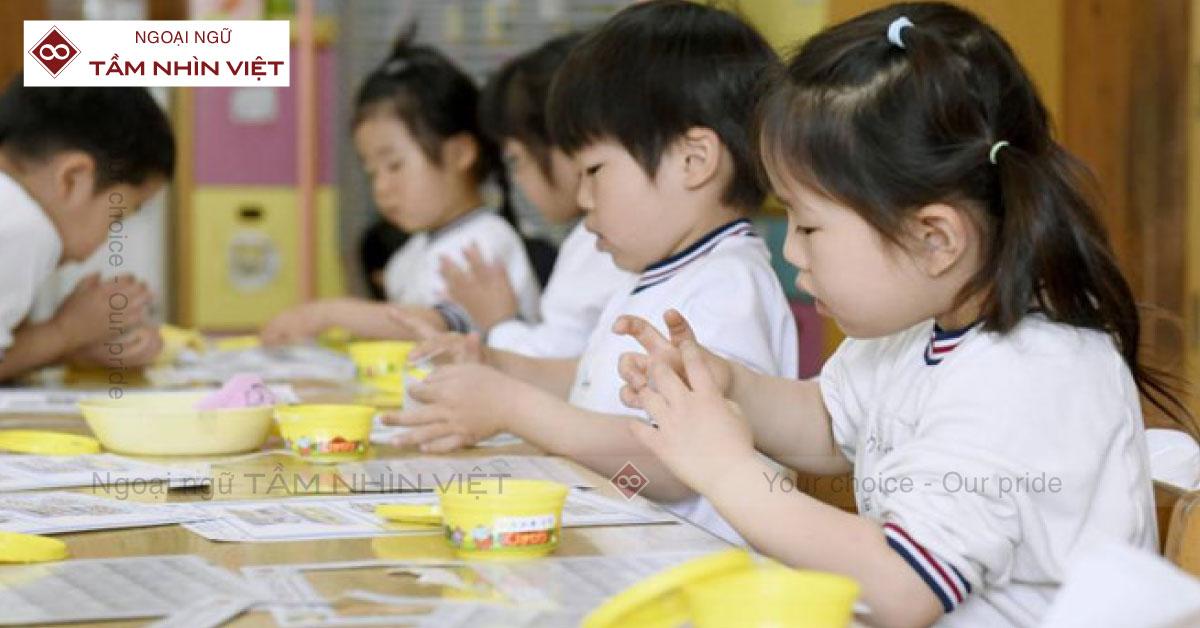 Lớp học tiếng Nhật trẻ em tại quận Bình Thạnh - Ngoại Ngữ TẦM NHÌN VIỆT